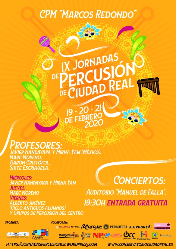 Cartel IX Jornadas Percusion CR 2020
